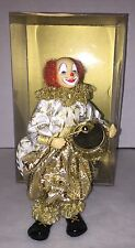 "*NIB Vintage 1980-1990 Felicitas Kreutzer West German Wax Clown 8"" Handmade"