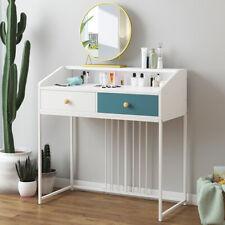 White Wooden Dressing Table Makeup Vanity Drawers Home Bedroom Desk Unit UK