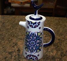 Sargadelos Spanish Blue And White Pottery Coffee Pot