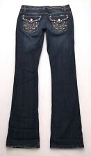 F326 LA IDOL Low Rise Bootcut Stretch Jeans sz 9 / 31x34 (Mea 30x34) Long