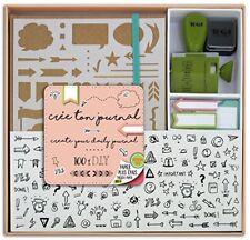 Toga Kt74 Kit Bullet Journal Carnet Kraft 15 5 x 21 5 x 1 5 cm