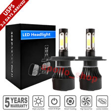 4-Sides H4 LED Headlight Kit HB2 9003 High Low Beam 2000W Bulbs 6000K Fog Lights