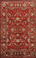 RED Vegetable Dye Floral Ziegler Oriental Area Rug Wool Hand-Knotted 6x8 Carpet