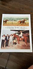 1980 BELMONT PARK PROMO PHOTO CARD BAL BREEZE ROGER VELEZ HORSE RACING JOCKEY