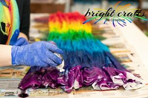 Tie Dye Kit 10 rainbow colours real fabric dyes bright colours dyes 10 t-shirts