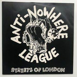 "ANTI-NOWHERE LEAGUE Streets of London 1981 UK 7"" Single WXYZ Records ABCD1 EX"