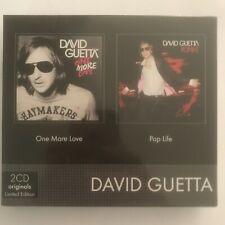 David guetta one more love/pop life 2 cd neuf sous blister