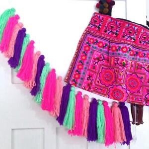 Candy Woolen Tassel Bunting