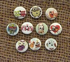 Animals Cardmaking & Scrapbooking Buttons
