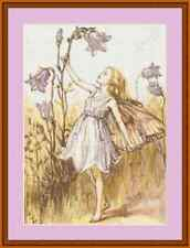 Harebell Flower Fairy Cross Stitch Kit