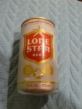White/Red LONE STAR BEER CAN Pull Tab open 12 oz. empty TOP ALUMINUM