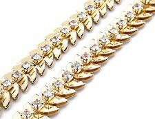 Señoras Mujeres Metal Dorado Cintura Cadena Encanto Moda Cinturón De Moda Talla 499