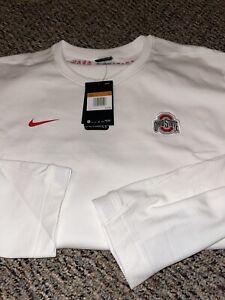 Ohio State Buckeyes 2020 Sideline Nike Crew Coach Pullover Sweatshirt XXL