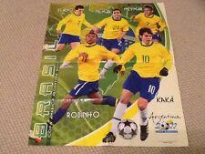 Navarrete Copa América 2011 Pegatinas de fútbol cartel promocional de Brasil Neymar Kaka