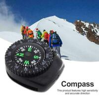 Mini Watch Strap Button Compass Survival Outdoor Hiking Access Cam T1Y5 I6A7