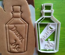 "Cookie Cutter Bottle ""Drink Me"" cookiecutter cookies custom shape"