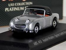 AUSTIN HEALEY SPRITE SPIDER 1958 SILVER WITH SOFT TOP DETAIL CARS ART 413 1/43