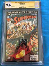 Superman #76 - DC - CGC SS 9.6 NM+ - Signed by Brett Breeding