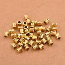 50/100Pcs Antique Tibetan Silver Tube Charm Spacer Beads 3034