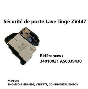 34010821, AS0039430 Sécurité de porte Lave-linge THOMSON, BRANDT, VEDETTE