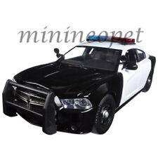 MOTORMAX 79533 2011 DODGE CHARGER PURSUIT POLICE 1/24 w LIGHTS SOUND BLACK WHITE