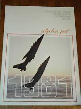 Alpha Jet Dassault Breguet 1981 Calendar Brochure