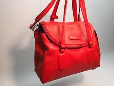 MARC BY MARC JACOBS RED LEATHER SILICONE VALLEY SMALL SATCHEL