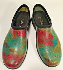 Women's SLOGGERS Rubber Floral Garden Shoes Size 10M