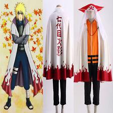 Naruto Uzumaki Naruto12 Hokage Cosplay Costume Halloween Cloak Free Shipping Hat
