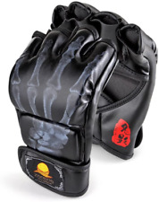 ZooBoo MMA Gloves, Half-Finger Boxing Fight Gloves MMA Mitts with Adjustable Wri