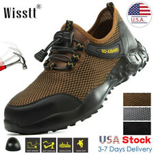 Men's Work Safety Mesh Shoes Steel Toe Boots Indestructible Military Light Sport