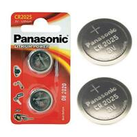 2 x Panasonic CR2025 3V Lithium Coin Cell Battery 2025