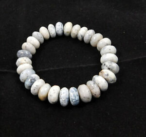 Dendrite Opal Rondelle Natural Gemstone Stretch Bracelet For Men & Women Jewelry