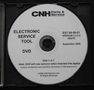 CASE NEW HOLLAND CNH ELECTRONIC SERVICE TOOL SOFTWARE VERSION 5.2.0.0 SEPT 2008