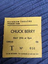 CHUCK BERRY - RAINBOW - 1980 ticket stub