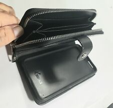 BRG Weave Leather Zipper Wallet Flip Case Cover Purse For iPhone & Samsung