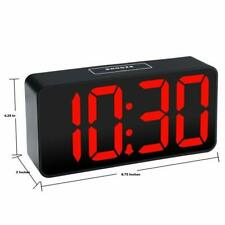 Digital Alarm Clock With 2 USB Ports Smart Connector Jumbo LED, 12 Hour Display