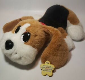 "Pound Puppies 14"" Interactive Dog 2004 Beagle Works Sound Moves Mattel MINT**"