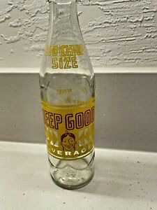 Vintage Heep Good  Beverages Big Chief Size Soda Bottle 10oz  Very Nice!
