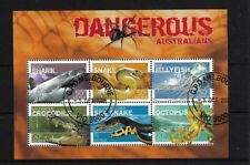 AUSTRALIA MS2709, 2006 DANGEROUS CREATURES MINI SHEET GOOD USED