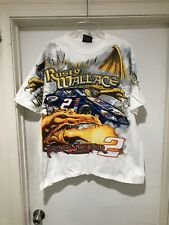 Vintage Rusty Wallace Track Slayer Conquer The Beast All Over Print T Shirt XL