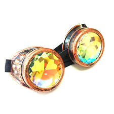 Festivals Rave Kaleidoscope Rainbow Glasses Prism Diffraction Crystal Lense