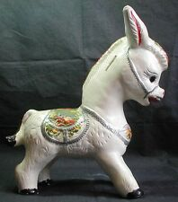 "Vintage Chalkware Donkey Bank 12"" Tall"