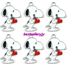 New 20 Pcs Cartoon Snoopy Metal Charms Jewelry Making pendants Party Gifts