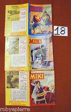 LOTTO 3 Albi Albo Capitan Miki a colori originali 1963 n 29 44 49 vendo buoni