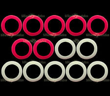 Large Rubber Rings for Bumper Pool Table - 7 Red & 7 White Rings