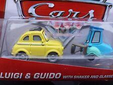 DISNEY PIXAR CARS LUIGI GUIDO SHAKER GLASSES 2013 SAVE 5% WORLDWIDE FAST SHIP