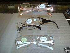 2 DELUX ! LADIES FASHION BIFOCAL CLEAR READING GLASSES power +2.75 select color