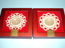 Lenox Snowflake Votive Tealight 2 PC. SET SHINE & SHIMMER Sculpted Snow Lights