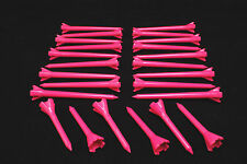 "Performance Plastic GOLF TEES Combo pack (2.75"" & 1.75"") LOT of 24 - NEON PINK"